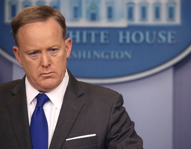White House Press Secretary Sean Spicer lost patience with a reporter on