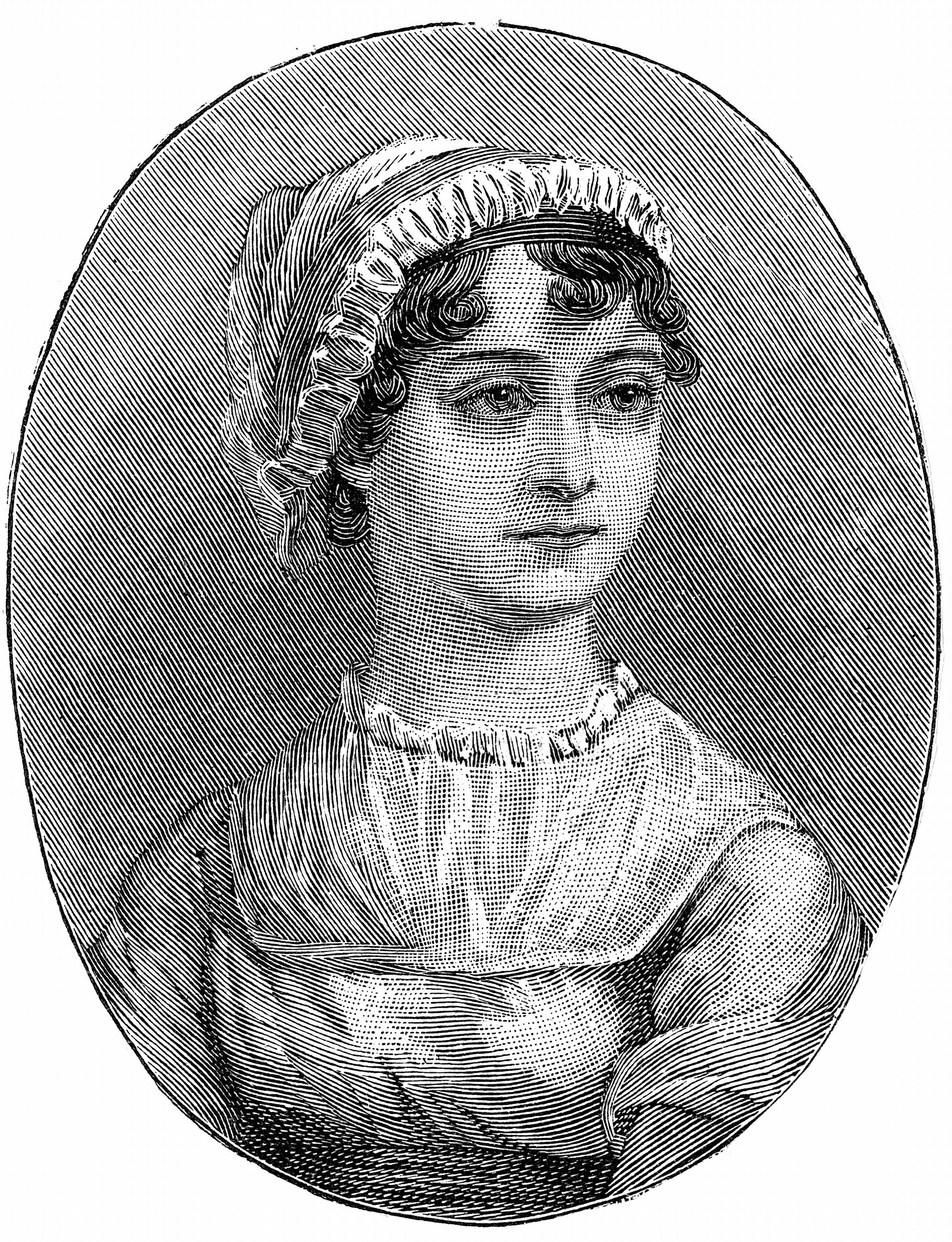 UNSPECIFIED - CIRCA 1754: Jane Austen (1775-1817) English novelist remembered for her six great novels Sense and Sensibility, Pride and Prejudice, Mansfield Park, Emma, Persuasion, and Northanger Abbey. Engraving. (Photo by Universal History Archive/Getty Images)