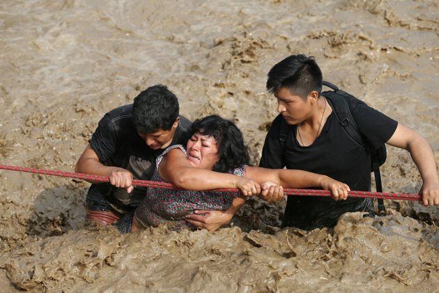 Las brutales imágenes de las inundaciones en