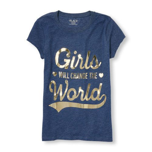 "Buy <a href=""http://www.childrensplace.com/shop/us/p/girls-clothing/girls-clothing/girl-t-shirts/Girls-Short-Sleeve-Foil"