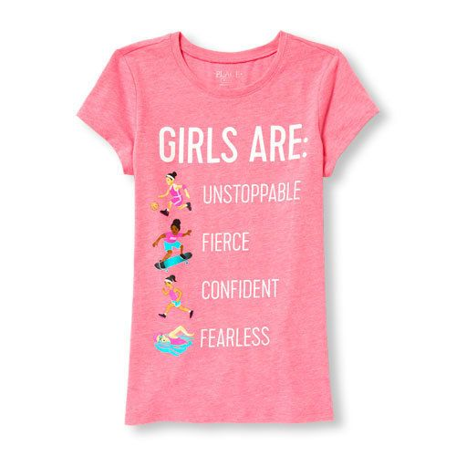 Children 39 s place is selling some seriously empowering t for Places to sell t shirts