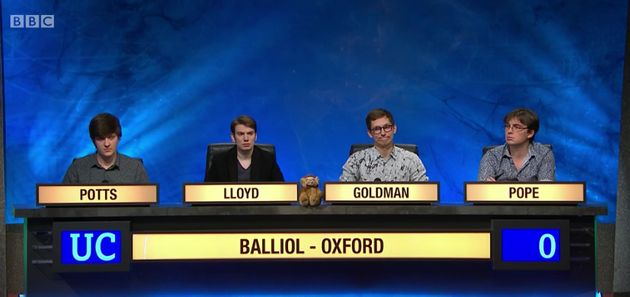 University Challenge fans suggested the team from Balliol College, Oxford should become a boy