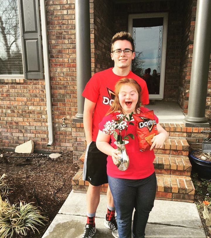 Teen's Dorito-themed 'promposal' to girl with Down syndrome goes viral