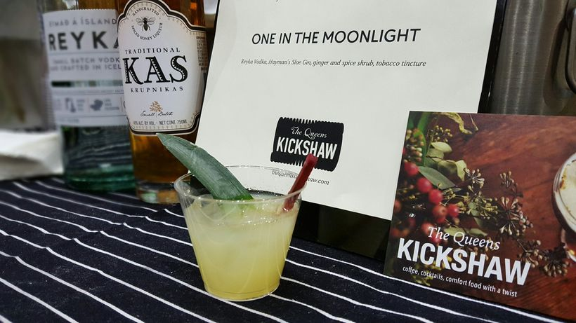Cocktail tastings from The Queens Kickshaw!