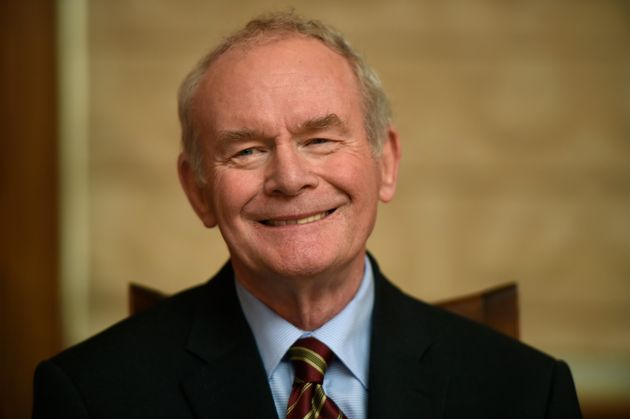 Sinn Fein's Martin McGuinness smiles during a news conference in January of this