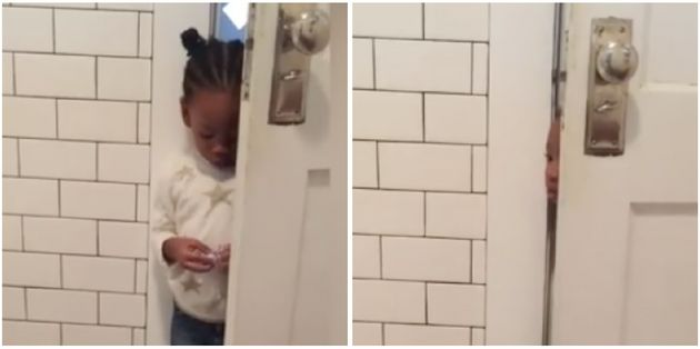 Mum Captures The Struggle Of Going To The Bathroom When You Have A Toddler And It's Spot