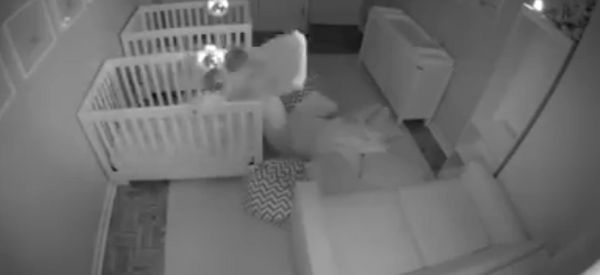 Twins Captured On Camera Having A Party In Their Bedroom Instead Of Sleeping