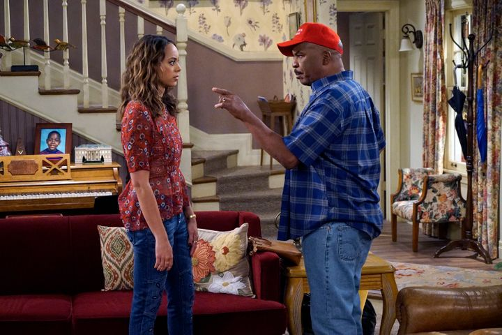 "Amber Stevens West and David Alan Grier in ""The Carmichael Show"""