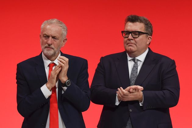 Labour deputy leader Tom Watson (R) warned yesterday there was a 'hard-left' plot to take overthe