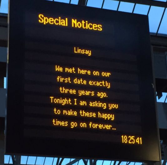 Train Station Proposal Leaves Commuters In Suspense Over Whether She Said