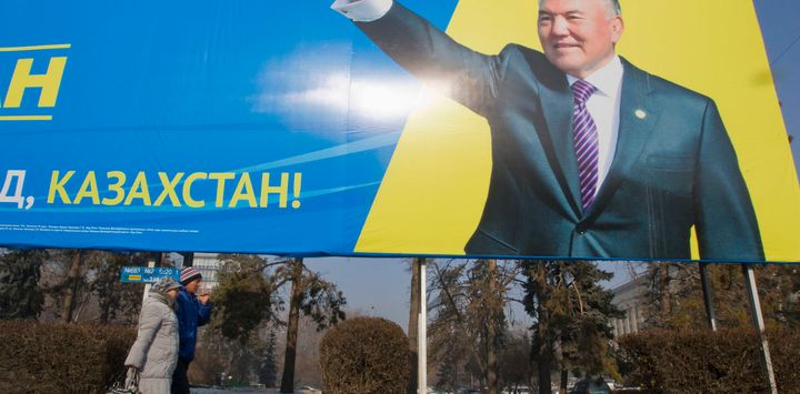 President Nursultan Nazarbayev (here in 2012) used to his best interest technology in an attempt to shut down any political u