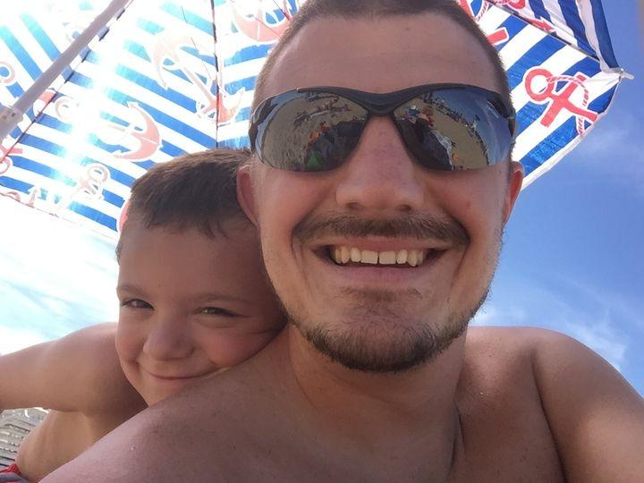 <p>With my Brenn at the beach.</p>