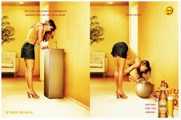 """These images are part of our past,"" Skol said, about their formerly objectifying ads."