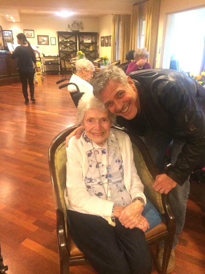 George Clooney Melts Hearts With Surprise Visit To 87-Year-old