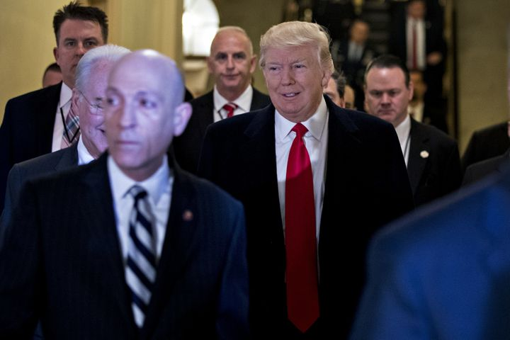 President Donald Trump made a pitch for his health care legislation to Republicans on the Hill Tuesday.