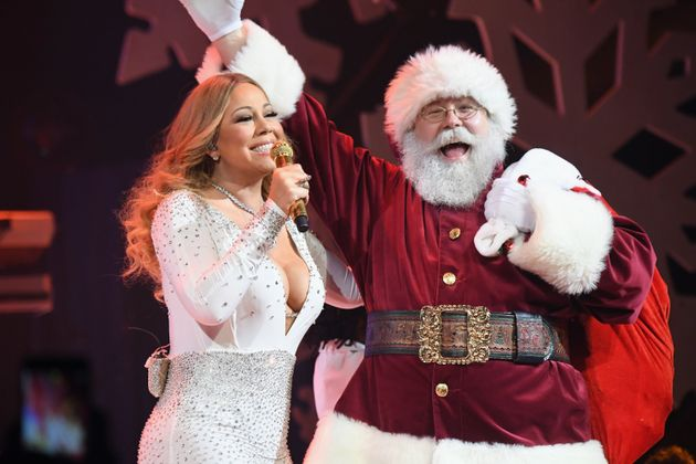 Mariah Carey and Santa, the two faces of Christmas in