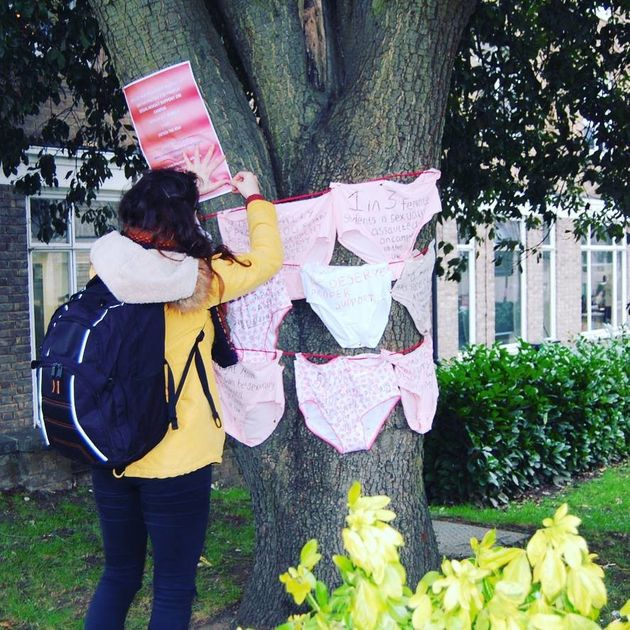 Roehampton University Students Are Hanging Underwear
