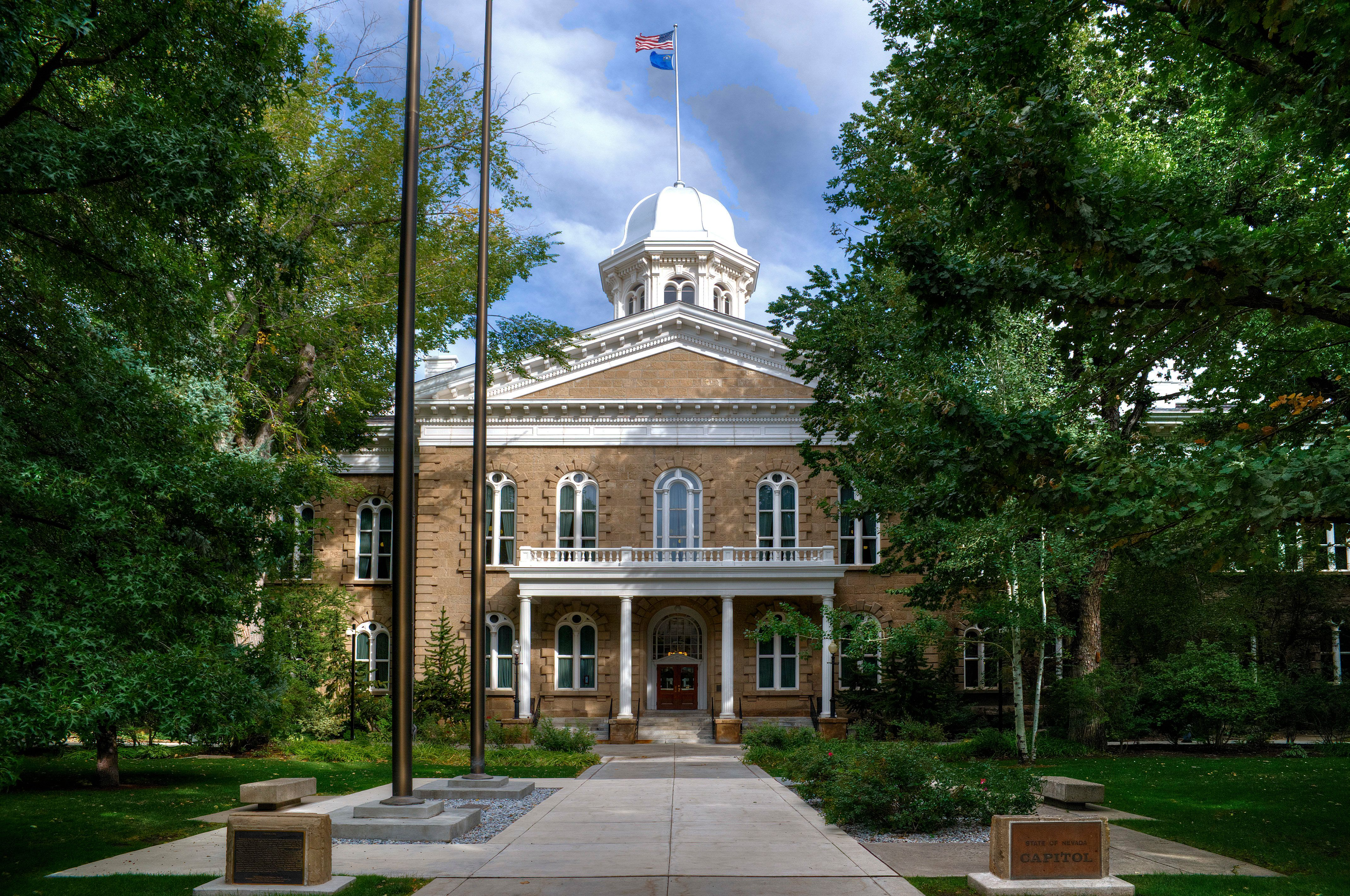 The Nevada state capitol building in Carson City.