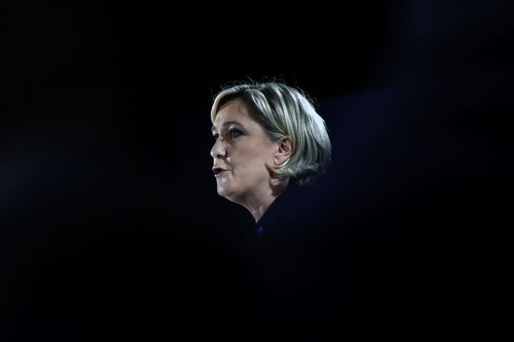 Marine Le Pen in Mirande, France. March 9.