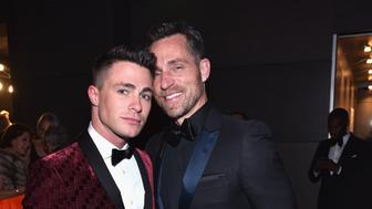 BEVERLY HILLS, CA - FEBRUARY 26: (EXCLUSIVE ACCESS, SPECIAL RATES APPLY)  Actor Colton Haynes (L) and Jeff Leatham attend the 2017 Vanity Fair Oscar Party hosted by Graydon Carter at Wallis Annenberg Center for the Performing Arts on February 26, 2017 in Beverly Hills, California.  (Photo by Kevin Mazur/VF17/WireImage)