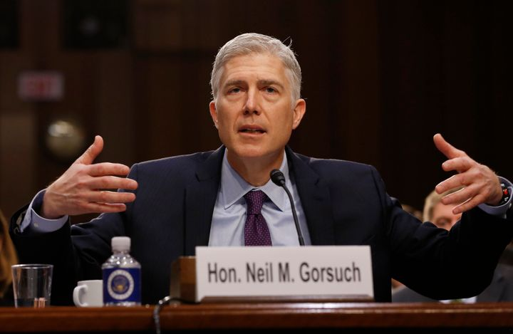 Democrats tried to put Neil Gorsuch on the defensive for his record of siding with corporations over ordinary people.