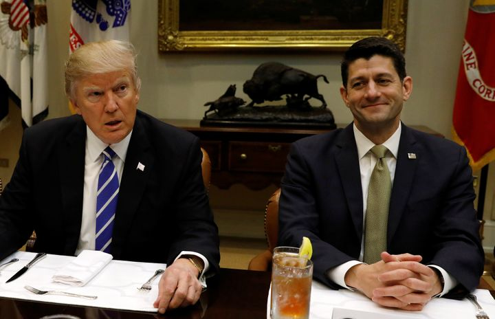 President Donald Trump is lobbying for a health care law introduced by House Speaker Paul Ryan (R-Wis.). AARP is trying