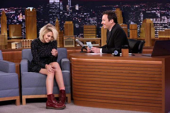 Paris Jackson during her interview with Jimmy Fallon.