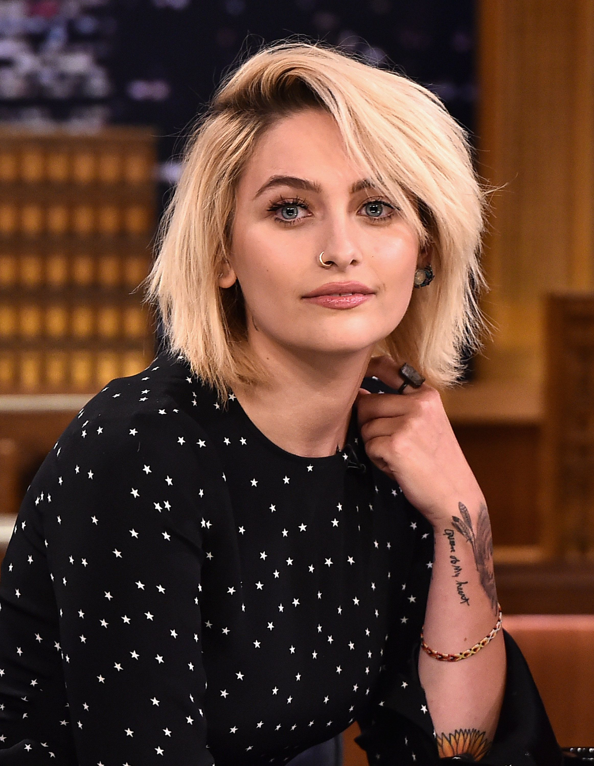 NEW YORK, NY - MARCH 20:  Paris Jackson Visits 'The Tonight Show Starring Jimmy Fallon' at Rockefeller Center on March 20, 2017 in New York City.  (Photo by Theo Wargo/Getty Images)