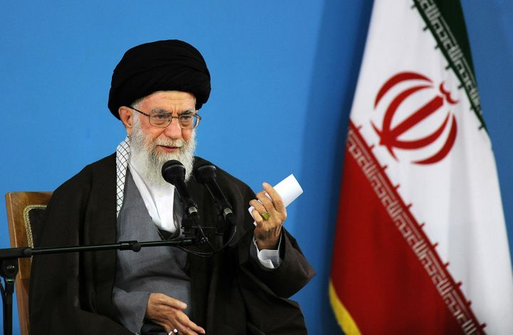 Supreme Leader of the Islamic Revolution Ayatollah Seyyed Ali Khamenei delivers a speech during the '9 January Uprising Day'