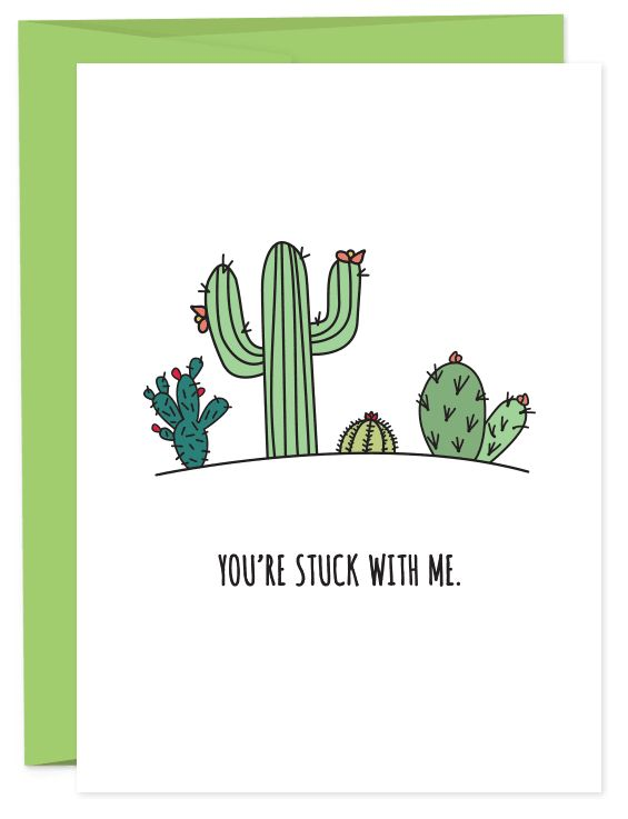 "<i>Buy it <a href=""https://humdrumpaper.com/collections/greeting-cards/products/youre-stuck-with-me"" target=""_blank"">here</a>"