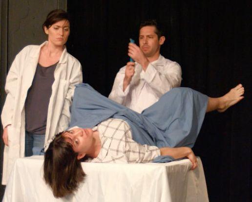 Jackie Jennings, Silvija Ozols and Matt Rubano in a scene from <i>Infertile: A Sketch Comedy Show.</i>