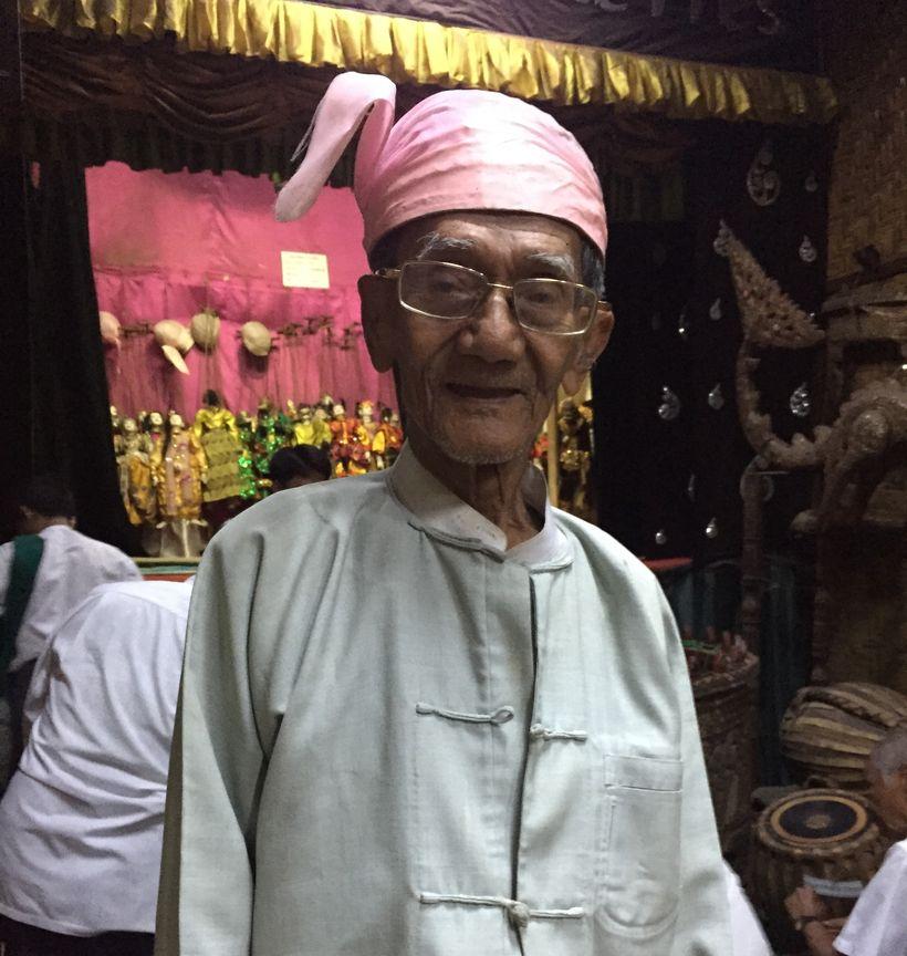 U Pan Aye, 85.  Mandalay Marionettes Theater