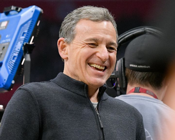 Bob Iger at a basketball game between the Oklahoma City Thunder and the Los Angeles Clippers in January in Los Ange