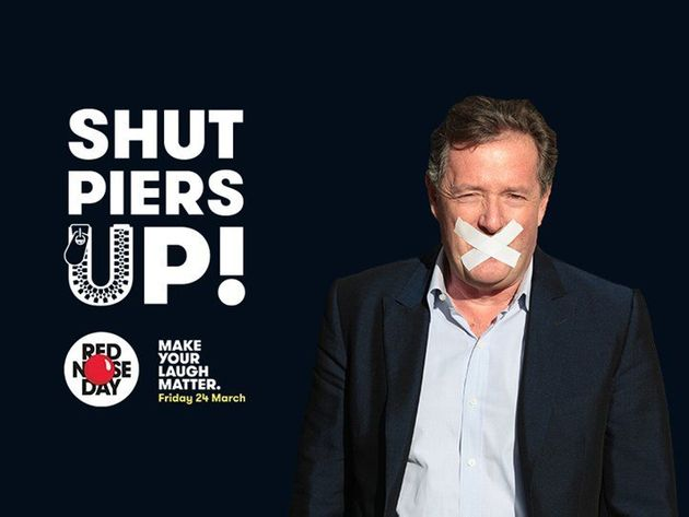 Piers Morgan is doing a sponsored silence for Comic