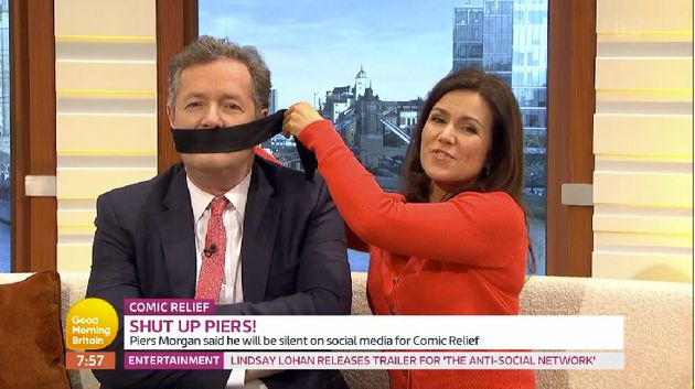Piers Morgan quits Twitter for Comic Relief - but will he remain silent?