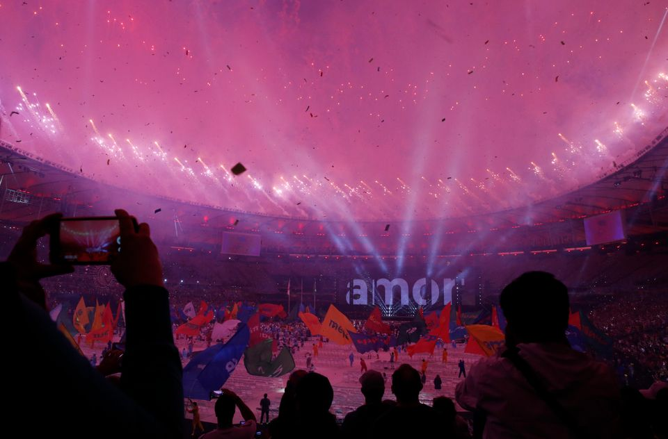 The grand Paralympic ceremony held at the Maracana in