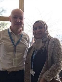 With Al-Saegh at the United Nations in Geneva last week.