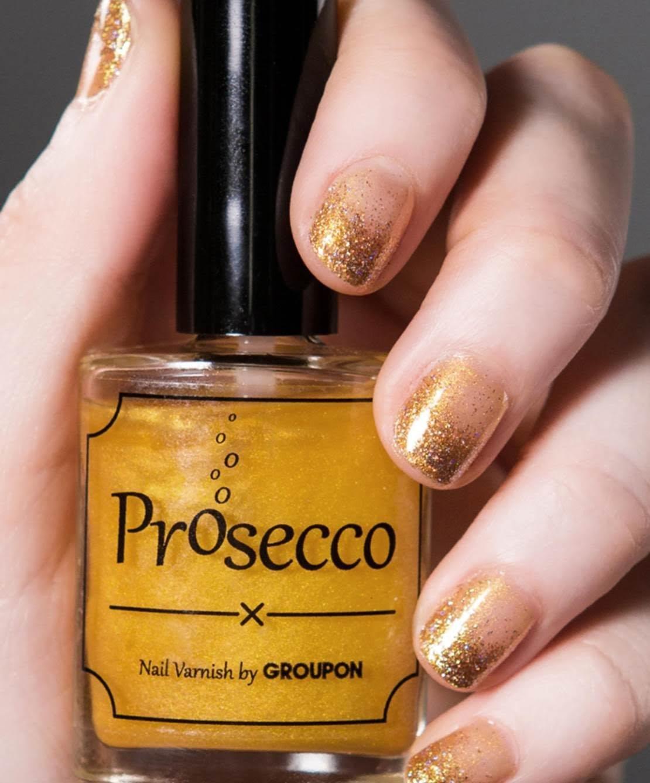 Prosecco nail polish by