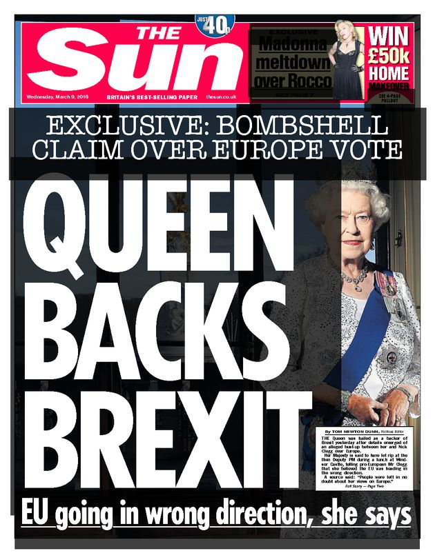 The controversial Sun front page from March