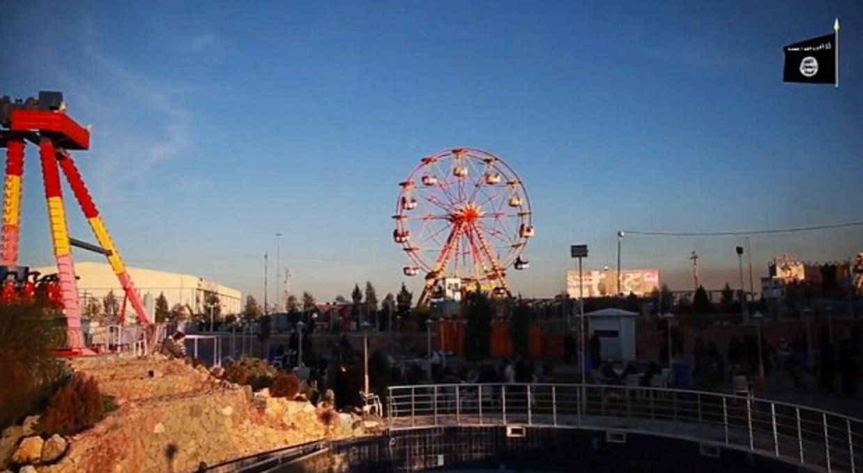 Dijla City Theme Park, which is allegedly run by ISIS, on the outskirts of Mosul, Iraq.