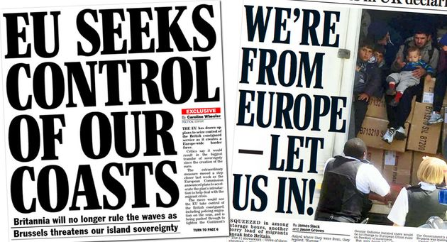 Some prominent anti-EU stories, including these from the Daily Express and Daily Mail, have been proved...