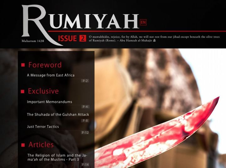 ISIS uses the English-language magazine Rumiyah, which means Rome, to spread its extremist ideology in the West.