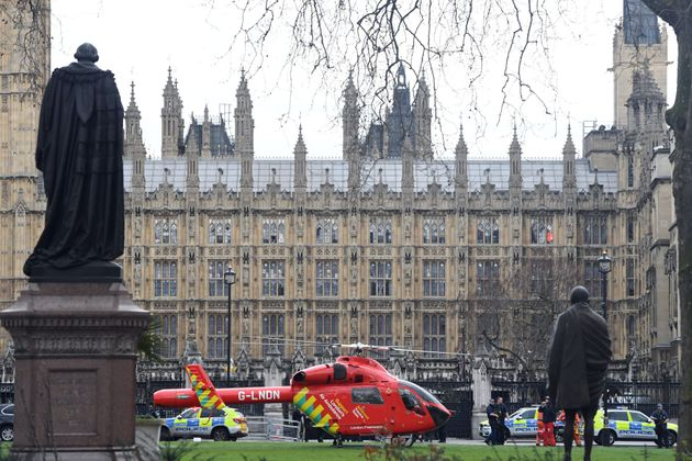 An Air Ambulance outside the Palace of
