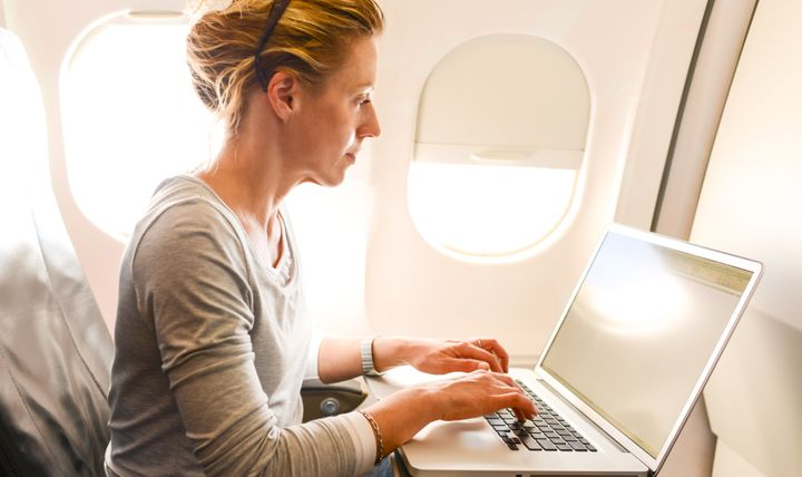 The UK's cabin baggage ban on laptops and tablets must be implemented by Saturday. File image.