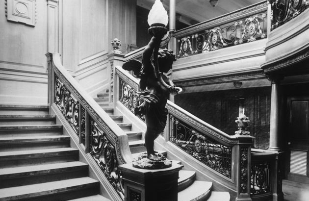 Both companies have offered to provide first-hand views of the ship's grand staircase, seen above beforebefore...