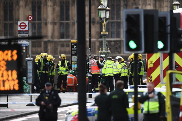 Emergency staff on Westminster