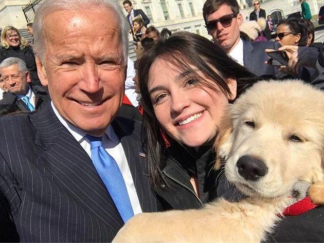 Joe Biden Meets Adorable Puppy Also Named