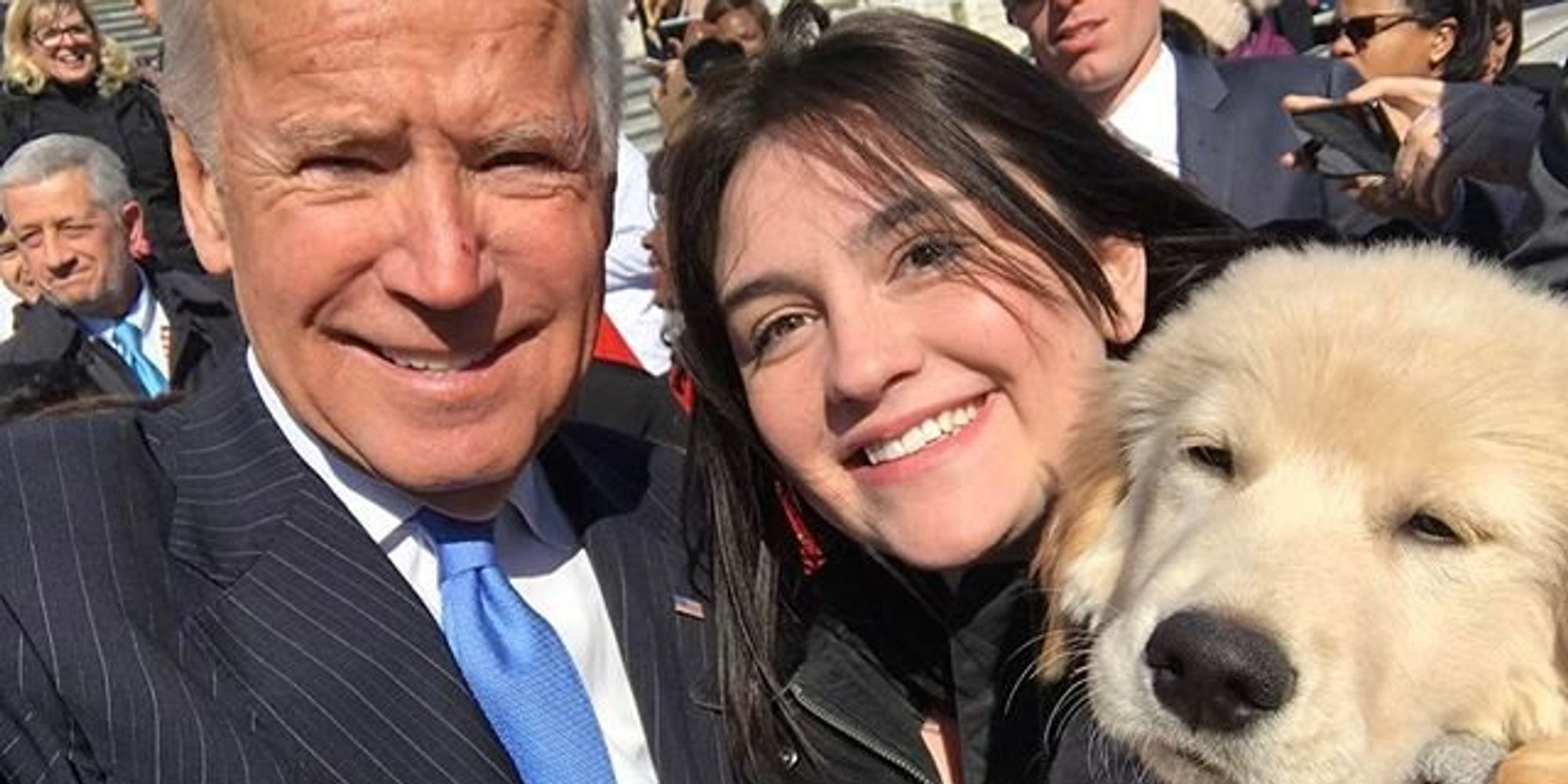 Joe Biden Meets Adorable Puppy Also Named Biden