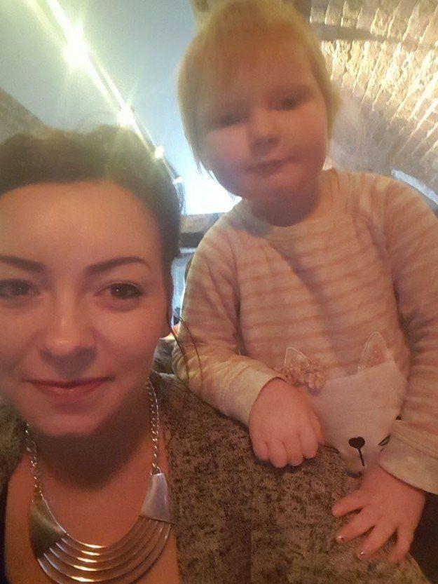 Zoe Walton with Isla.