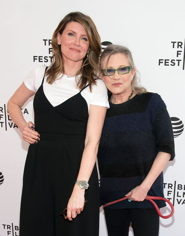 Carrie Fisher and Sharon Horgan at a screening of 'Catastrophe' in
